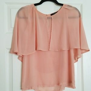 Forever 21 chiffon peach color blouse
